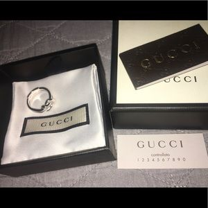 NWT Gucci Sterling Silver .925 Piccolo Knot Ring
